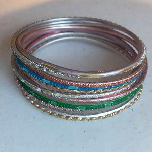 Sparkly bangle set